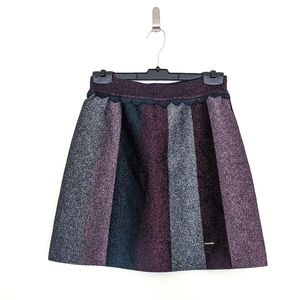 TED BAKER Metallic Colour By Numbers Mini Skirt